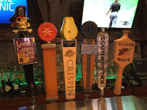 Draft Handles, Crispin, Allagash white and more at our Hanover MD hotel dining