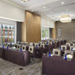 A spacious meeting room with space for a substantial amount of people at the Hotel at Arundel Preserve