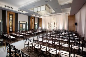 A beautiful ceremony room at the Hotel At Arundel Preserve located near the Arundel Mills