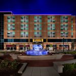 The luxurious front exterior of the Hotel At Arundel located near the BWI Airport