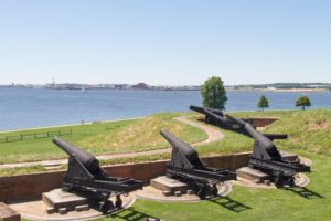 Cannons at Fort McHenry, Baltimore, Maryland