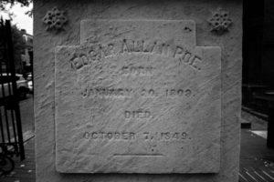 Edgar Allan Poe's tombstone