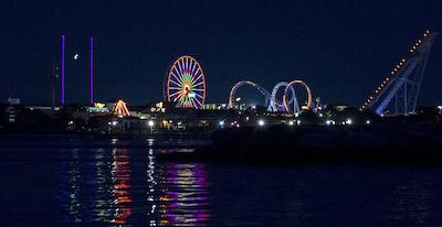 Jolly Roger Amusement Park in Ocean City, Maryland.