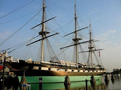 Landmark USS Constellation in Baltimore, Maryland Harbor